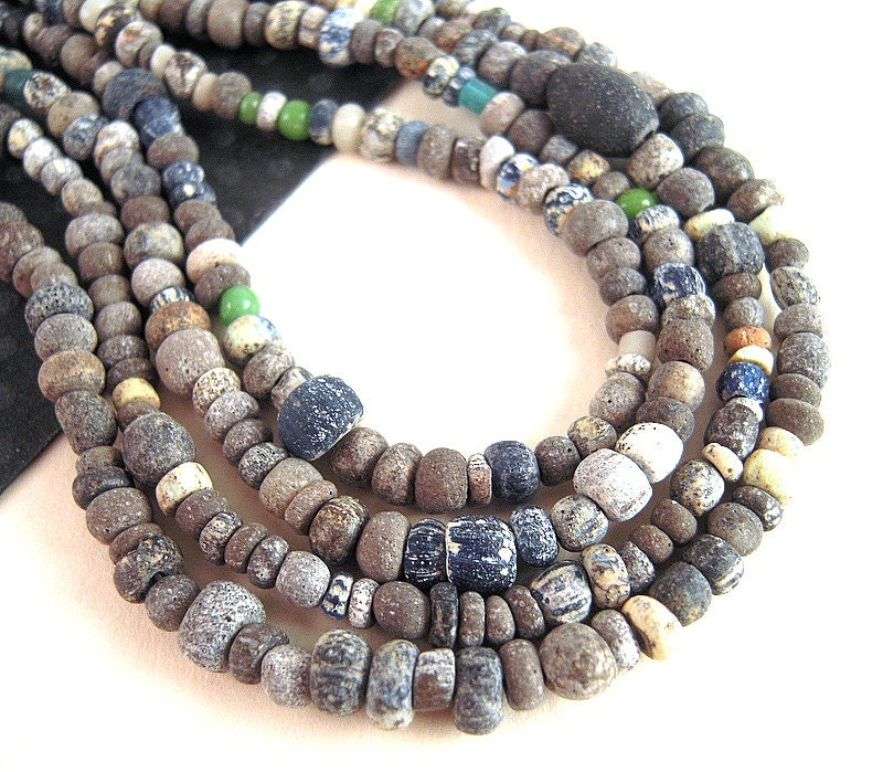 Bead Glass African Beads: TINY Ancient African Trade Beads 2mm 5mm Antique Glass Seed