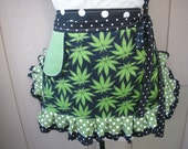 Womens Aprons - Pot Smokers - Canabis Fabric Aprons - Marijuana Aprons - Weed Smokers Aprons - Annies Attic Aprons - Bong Smokers Aprons