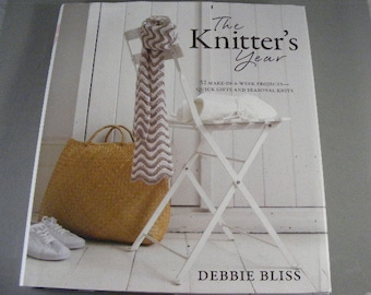 The Knitters Year by Debbie Bliss, knitting pattern book