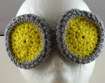 Crocheted Goggles Headband - The Scientist (large) (SWG-HH-GGSCIE01)