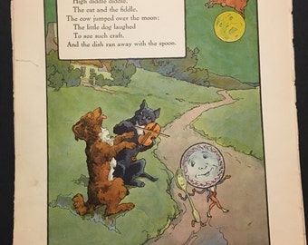 High diddle diddle...from 1921 Mother Goose Book