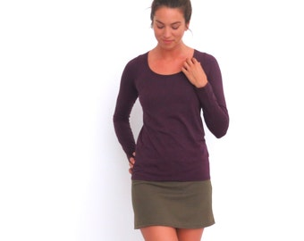 Organic Scoop Neck Top