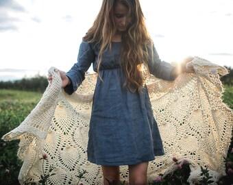 Organic Linen Cafe Dress