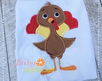 Standing Turkey Applique Design 4x4, 5x7, 6x10, 8x8
