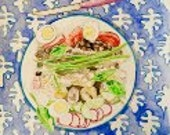 NICOISE - ORIGINAL watercolor painting