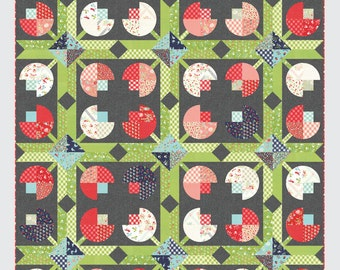 Flower Patch quilt pattern from Thimble Blossoms, lap size, layer cake friendly