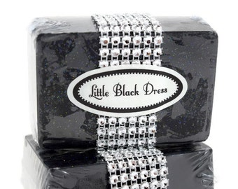 Glitter Soap, Bachlorette Party Favor, Little Black Dress Soap
