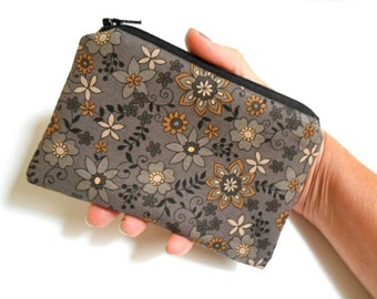 Coin Purse Little Padded Zipper Pouch ECO Friendly NEW Gray Bliss