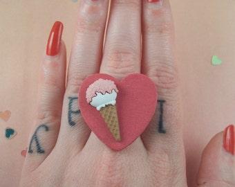 I Heart Ice Cream Ring