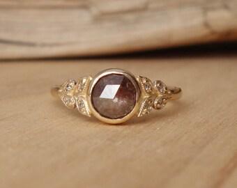 Floral Rose Cut Diamond Ring - Deposit