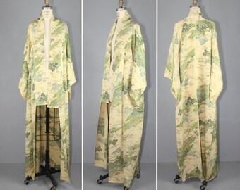 vintage kimono / 1950s / silk robe / MODERN FABLE silk kimono