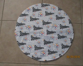 Steering wheel cover, Steelers, football, auto accessory, fabric cover, wheel cover, pickup, car, van, truck, sports, hand crafted,
