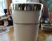 1960s Soft Rubbery Plastic Insulated Ice Bucket