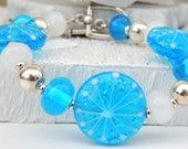 Elsa Handmade Lampwork Bead Bracelet