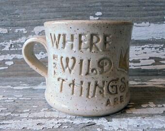 Where the Wild Things Are - Handmade Pottery Mug - Sendak Inspired - Max - Literature - Children