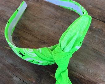 Bandana Knot Headband (NEON GREEN)