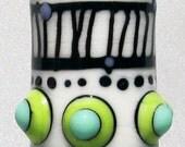 Totem in Cream--Handmade Lampwork Glass Bead