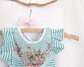 bunny print striped children's dress Supayana