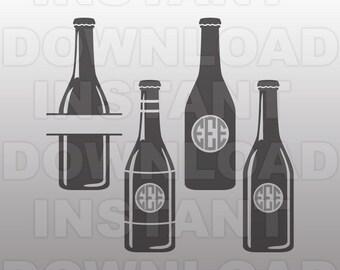 Beer SVG File,Beer Bottle Monogram SVG File -Commercial & Personal Use- svg for Cricut,Silhouette svg,vector svg,svg cutting file,vinyl cut
