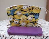Clutch Cosmetic Bag  Purse Minions Made in USA Essential Oils Case Despicable Me