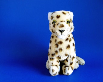 Vintage Leopard R. Dakin Stuffed Animal Toy 1980s Forest Animal Big Cat cheetah Plush
