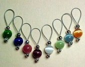 Rainbow Cats Eye Stitch Markers - US 5 - Item No. 510