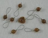 Gemstone Knitting Stitch Markers  -  US 10 -  Set of 8 - Item No. 946