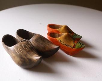 Miniature Wooden Clogs, Souvenirs from Belgium & La Chatre