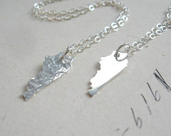 Tiny Kentucky Charm Necklace in Sterling Silver