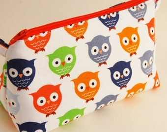 Flat Bottomed Zippered Pouch/Make Up Bag