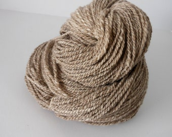 Rustic - Naturally Coloured Corriedale Wool Handspun Yarn 2 ply Worsted Weight Hand Spun Yarn Natural Fiber