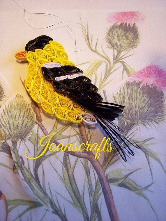 Quilling, American Goldfinch ornament