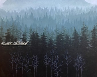 Twin Peaks landscape - Glastonberry Grove - print
