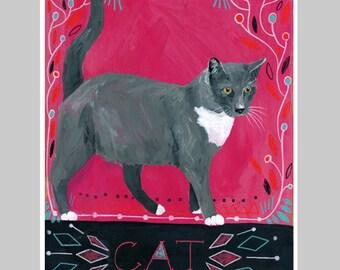 Animal Totem Print - Cat