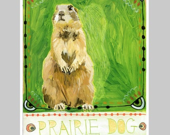 Animal Totem Print - Prairie Dog
