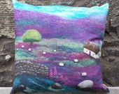 Cushion Digitally Printed with Felt Landscape Sipping By The Stream