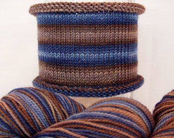 We've All Done Something: WORSTED weight, hand-dyed gradient self-striping sock yarn, SW merino