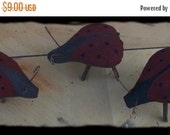 Hello Summer Sale Primitive Ladybugs-
