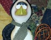 Folkart Gourd Penguin