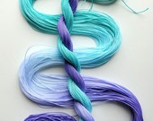 "Size 20 ""Lilac Sea"" hand dyed thread tatting crochet cotton"