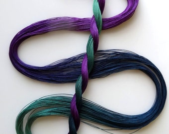 "Size 80 ""Stardate"" hand dyed thread 6 cord cordonnet tatting crochet cotton"