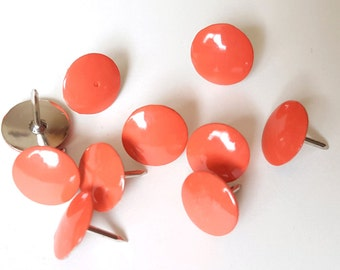 Coral Thumbtacks, Push Pins Set. Perfect for Bulleting Boards, Office Gifts, Office Decor.