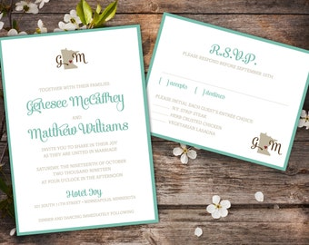 State of Love Simple and Modern Wedding Invitation