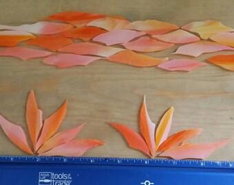 Orange Glass Shards for Mosaic Art Designing