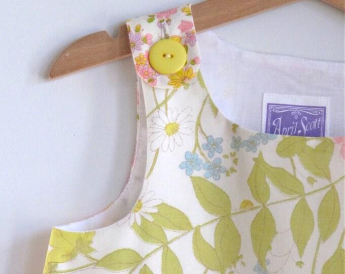 Butterfly Dress, Toddler Dress, Girls Dress Size 4, Pastel Floral Dress from Vintage Fabric, Girls Sundress, Summer Dress, Girls Pinafore