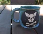 Stoneware Sgraffito Chihuahua Mug