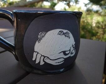 Hand thrown, stoneware, Crab mug