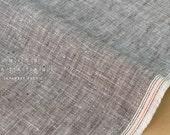 Japanese Fabric 100% chambray linen - grey -  50cm