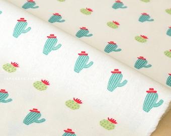 Japanese Fabric Cactus Hats - cream - fat quarter