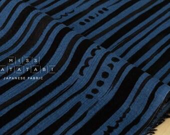 Japanese Fabric Kokka stripes and dots gauze - D - 50cm